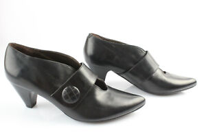 Clothing, Shoes, Accessories Enzo Versini Leather Court Shoes Black T 36,5 Mint Activating Blood Circulation And Strengthening Sinews And Bones Heels