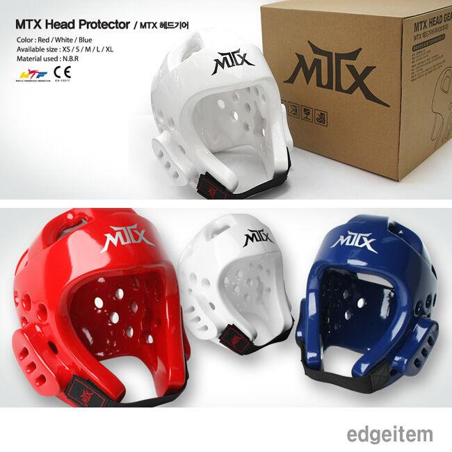 MOOTO MTX Head Gear Taekwondo Guards bluee    Red   White Headgear WTF Predector  no.1 online