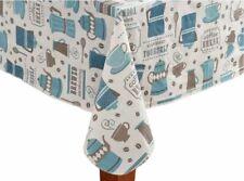 Seashore and Seaside Scenery Vinyl Flannel Back Tablecloths-Var Size Sailing