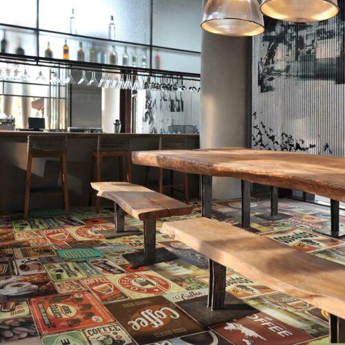 Bodenbelag Kaffee PVC CVabriebfester Vinylboden bis 15 m Längen Belag Tarkett