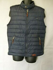 detailing cheap for discount great look Details about Camel Active Superior Quality Garment Men's Full Zip Vest  Navy / Chocolate