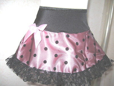 New Black Pink Spotted Lolita cheerleader Skirt All sizes Rock Party Dance Gift