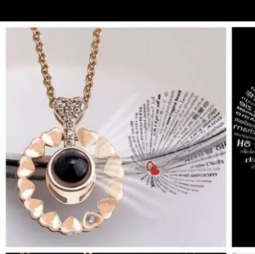 Kette Halskette Rose Gold Mit Anhänger I Love You 100 Sprachen Ich Liebe Dich