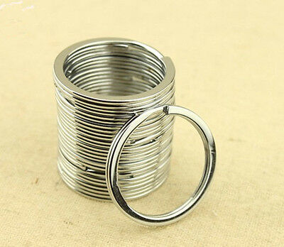 10Pcs Metal Key Holder Split Rings Keyring Keychain Keyfob Accessories 30mm XIUS