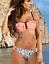 Ruffle Bikini Livia Push-Up NEON PEACH Blu Navy Originali di alta qualità Gabbiano