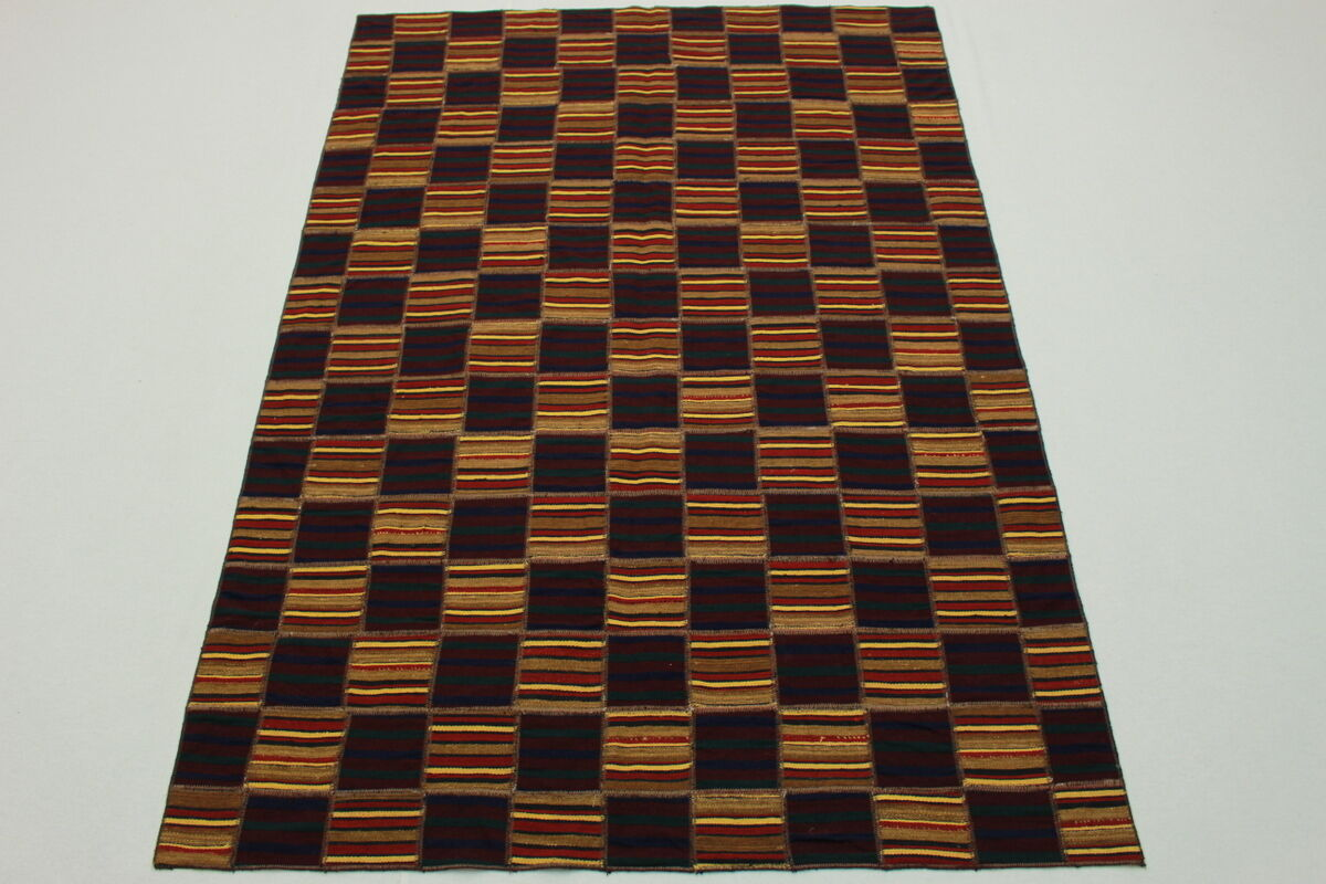 VINTAGE Patchwork Tappeto Orientale Kilim 240x160 Look Usato Moderno TREND ColoreeeATO 2634
