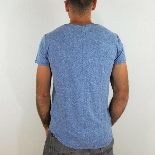 TOMMY JEANS T-shirt col V TJM Basic Dutch Blue DM0DM0 6710