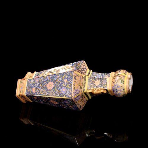 China Antique Porcelain QING YONGZHENG colour enamels Flower bird vase B2