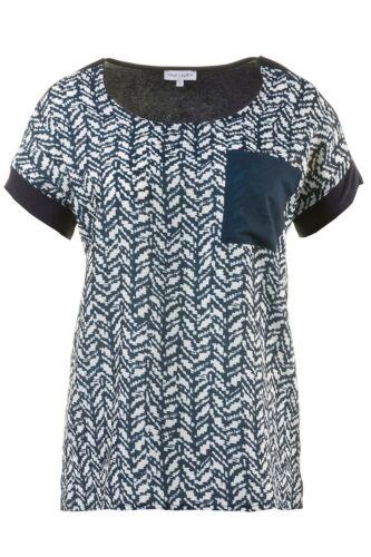 minimale Bleu Nouveau Front de pression Gina Laura Shirt