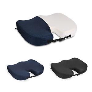orthop disches sitzkissen sitzerh hung f r auto b ro rollstuhl schwarz blau ebay. Black Bedroom Furniture Sets. Home Design Ideas