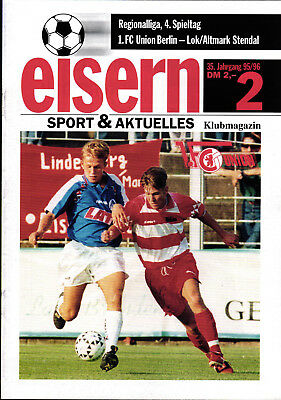 Programm 1998//99 FSV Lok Altmark Stendal FC Berlin BFC Dynamo