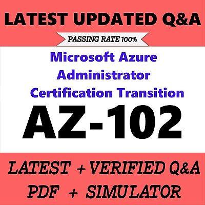 AZ-101 Microsoft Azure Integration and Security Exam Test PDF QA/&SIM