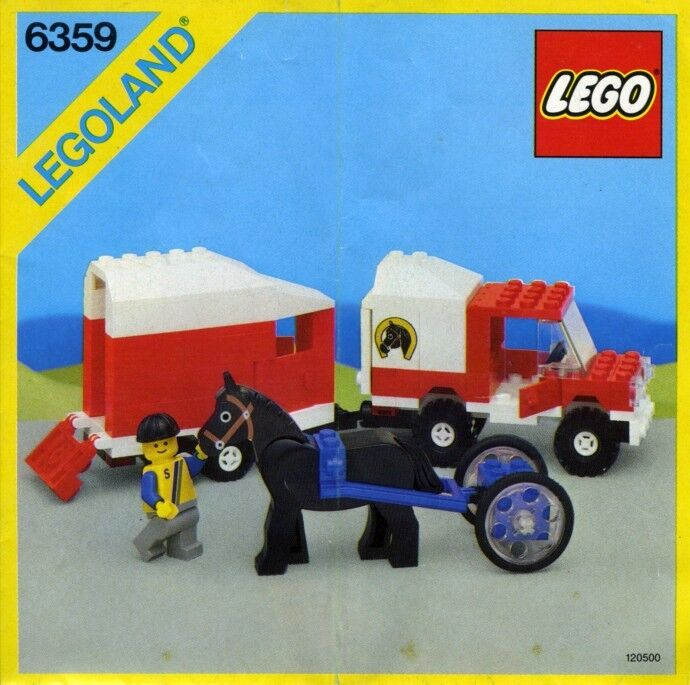 Lego Classic Town 6359 Horse Trailer NEW SEALED 1986' LEGOLAND Recreation