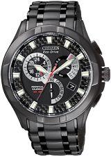 Citizen Eco-Drive Perpetual Calendar Black IP 100m Gents Watch BL8097-52E