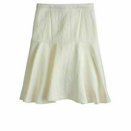 J.Crew Collection Raffia Shells Skirt in Ivory, Si