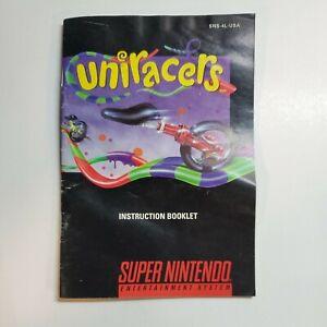 Uniracer Instruction Booklet MANUAL ONLY! SNES, Super Nintendo