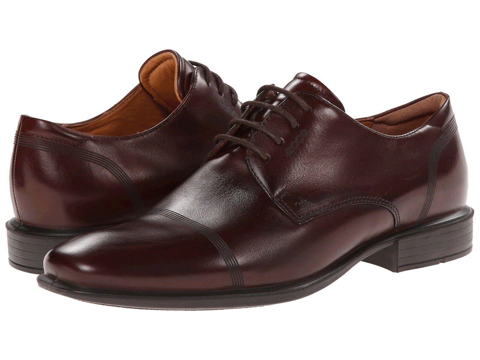 Men's ECCO Cairo Cap-Toe Tie Dress shoes, 631714 01014 Multiple Sizes Mink