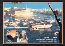 MALTA MNH 2001 MS1211 VISIT OF POPE JOHN PAUL II MINISHEET