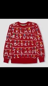 Official Stranger Things Ugly Holiday Light Up Sweater Target Red