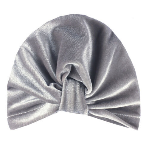 Kids Baby Girls Velvet India Turban Knot Head Wrap Hat Beanie Headband Soft Cap