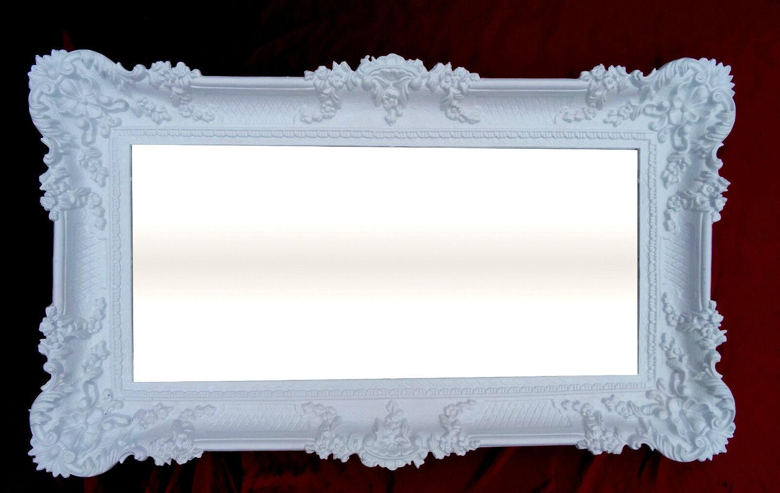 Specchio da parete bianco 96x57 antico specchio barocco - Specchio bianco ...