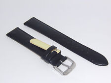 "DI-Modell Genuine Calf Leather Ostrich Grain 18 mm BLACK Watch Band ""TIVOLI"""