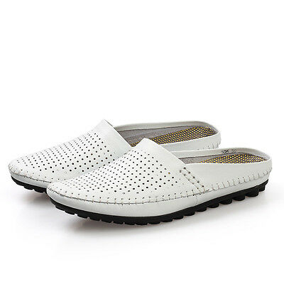 Slipper Comfy 360°genuine leather summer breathable loafers sandals shoes