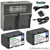 Battery, Charger For Jvc Ssl-jvc50 & Gy-hm600 Hm600e Hm600ec Gy-hm650 Camcorder