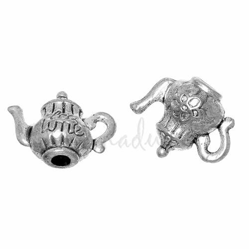 Tea Time Wholesale 3D Teapot Antiqued Bronze Charm Pendants C3270-5 20PCs 10