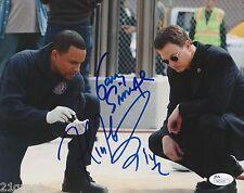 Gary Sinise + Hill Harper Dual Signed 8x10 Photo w/ JSA COA #N23120 CSI: NY
