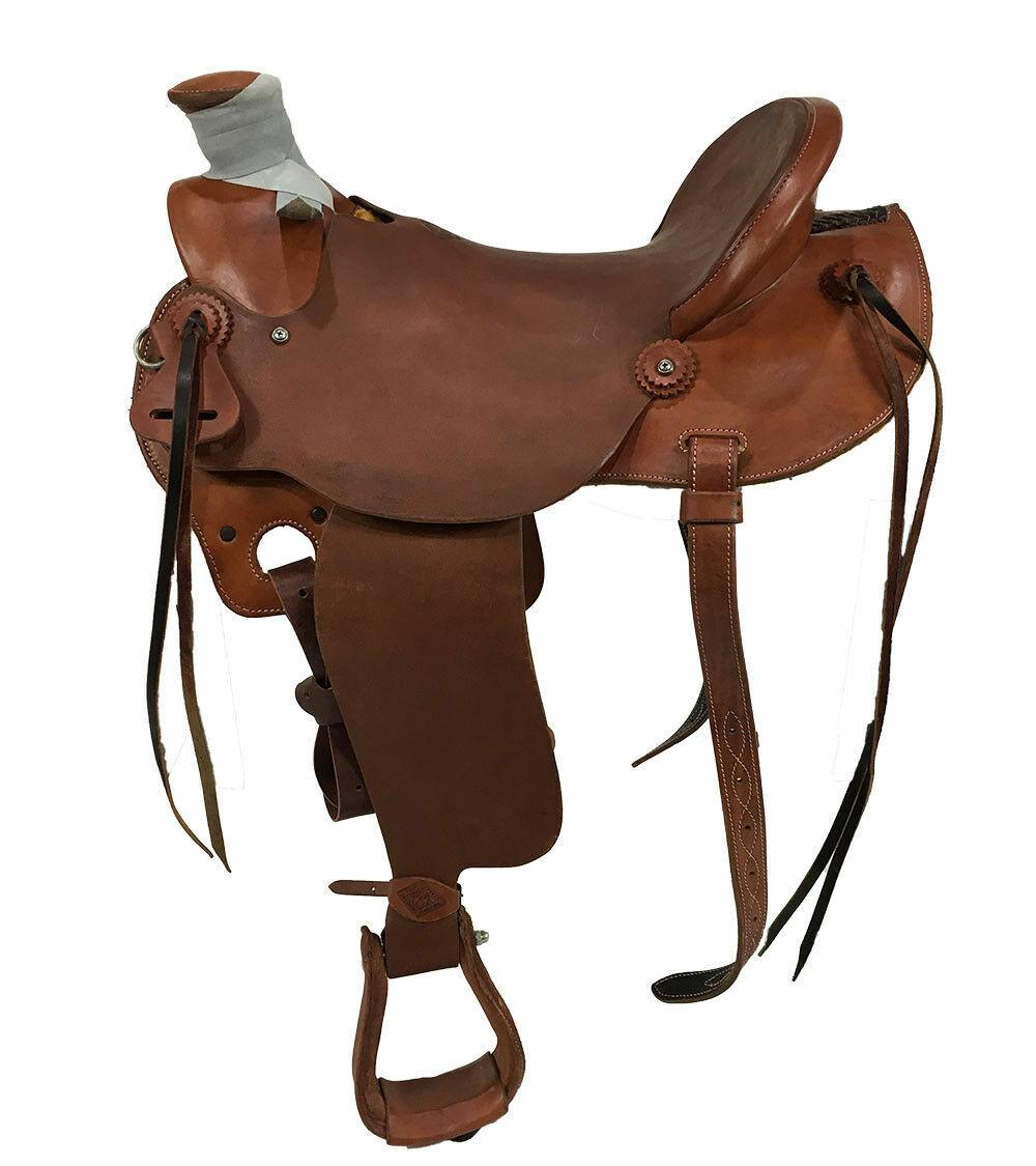 14  Wade ligero Rancho amarrar silla de montar de vaquero, pesa menos de 25 libras