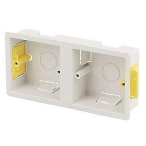 Dry-Lining-034-Fast-Fix-034-Box-Dual-2X1-Gang-32mm-Deep