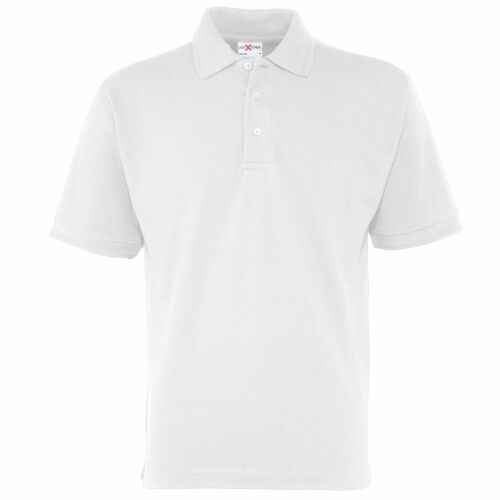 Mens big man size WHITE polo shirt 3XL XXXL 4XL XXXXL RTXTRA RX150 NEW