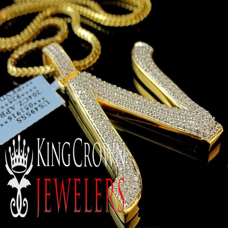 Nuova per Uomo Gialla oro sopra sopra sopra argentoo Sterling Iniziale Lettera N Franco 049b6f