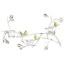 Shabby Chic Birds Tea Light Candle Holder Wall Art NEW