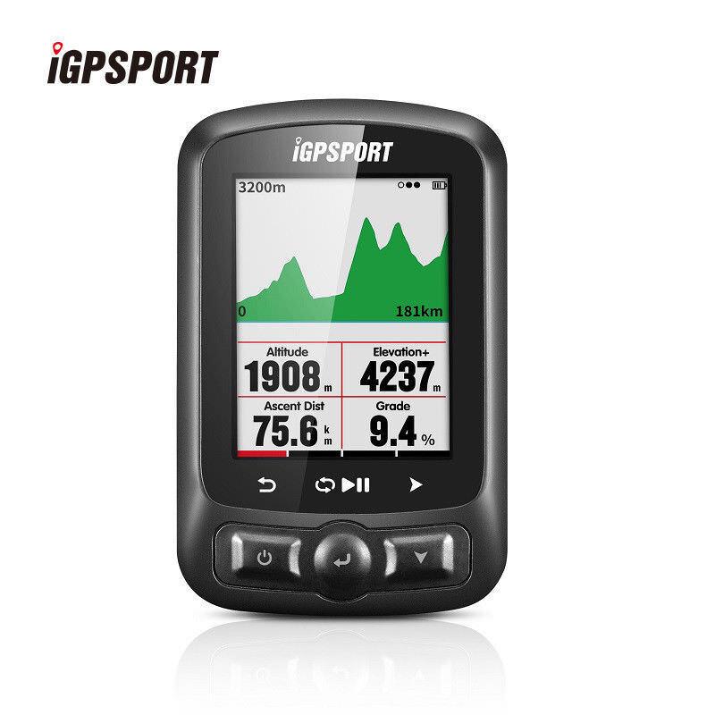 Igpsport Ciclismo Velocímetro Computadora Bici IGS618 GPS Negro con Soporte