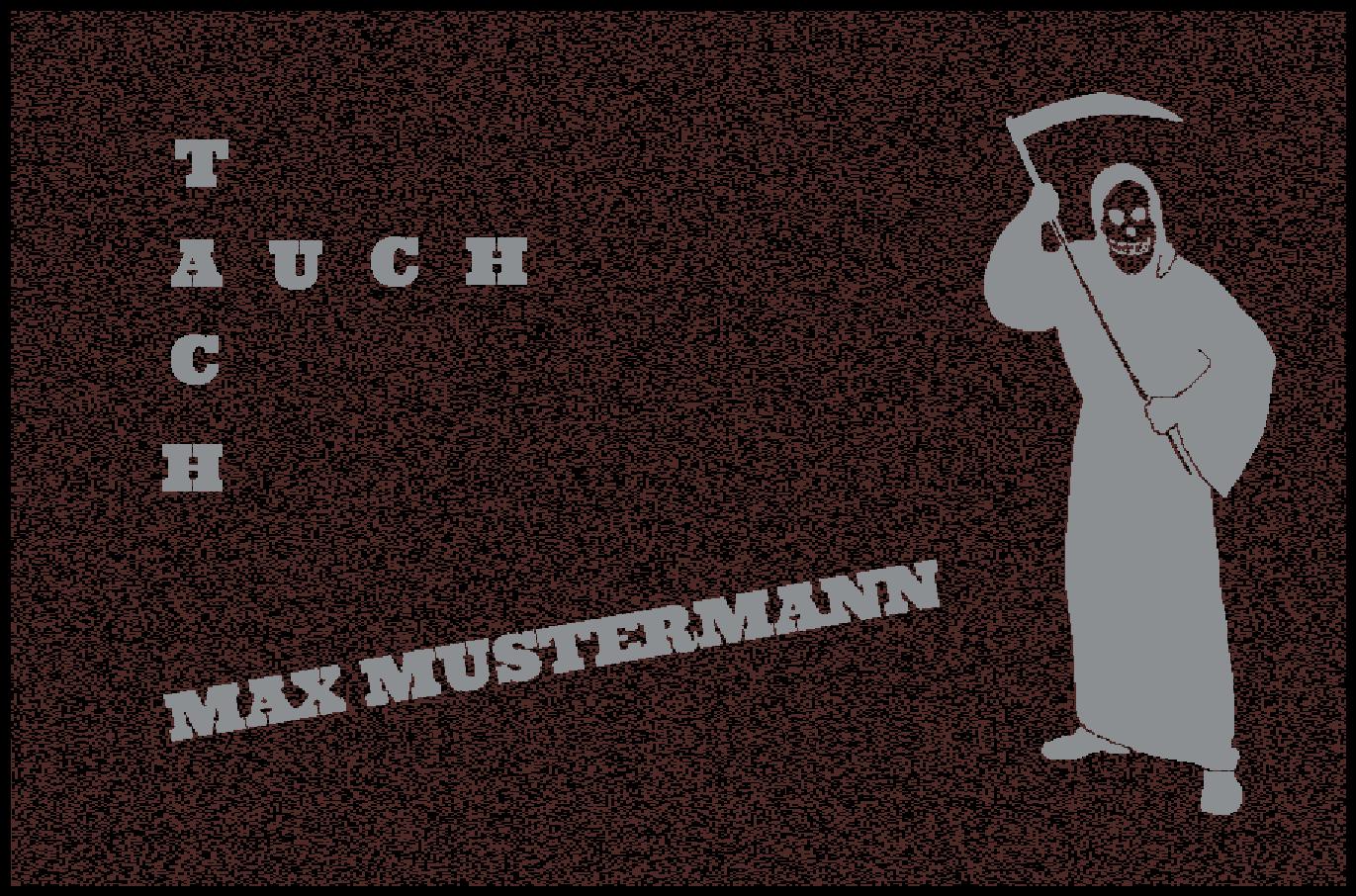 Fußmatte Schmutzfangmatte waschbar Gummirand 90x60 cm Wunschtext Skurriles