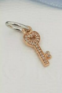 da48ef1ed Authentic Pandora Symbol of Trust 14k Rose Gold Key Pendant Charm ...
