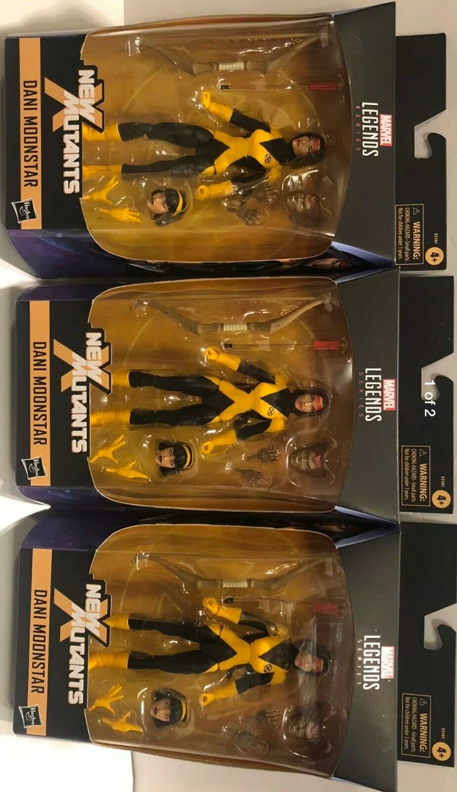 Lot of 3 Marvel Legends Dani Moonstar 6  Figure New Mutants WalGrüns Exclusive