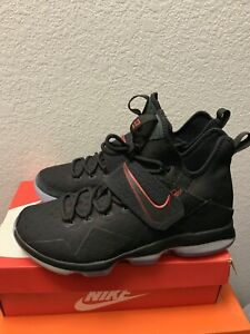 new product 88fb9 b8d03 Details about Nike Lebron 14 XIV Men's Sz 10.5 Bred University Red 852405  004 Basketball Shoes