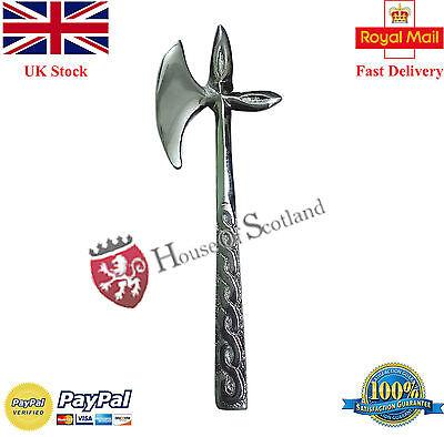 Scottish Kilt Pins Chrome Finish Lauder Battle Axe