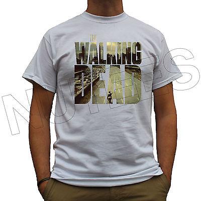 Walking Dead Zombie Apocalypse Evil Gun Cop Mens Ladies T-Shirt Vests S-XXL Size