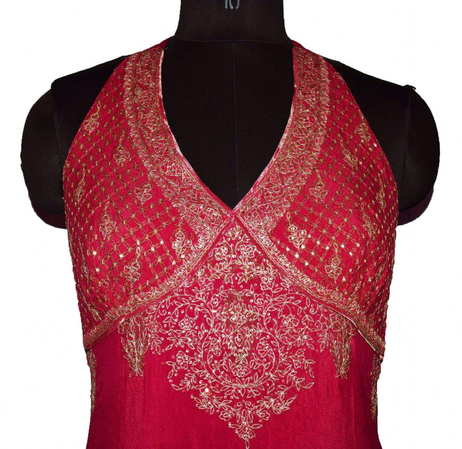 INDIAN DESIGNER RITU KUMAR SEXY BACL LESS DRESS V… - image 4