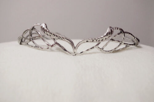 SHIP FASTElven  Leaf Crown Elrond  Antique SILVER//GOLD  Lord Of The Rings HOBBIT