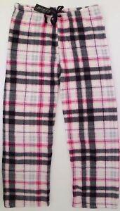 Linda-Michael-Women-039-s-Adult-Soft-Warm-Fleece-Plaid-Polka-Lounge-Pajama-Pants