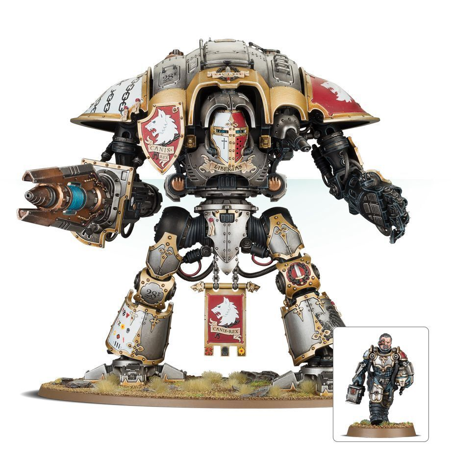 Knight preceptor Canis Rex magníficamente pintado warhammer 40K
