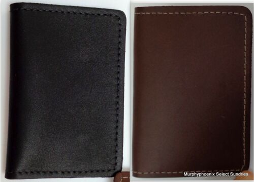 Leather Business Card Case Made in USA New Choose Black or Brown FREE SHIPPING!