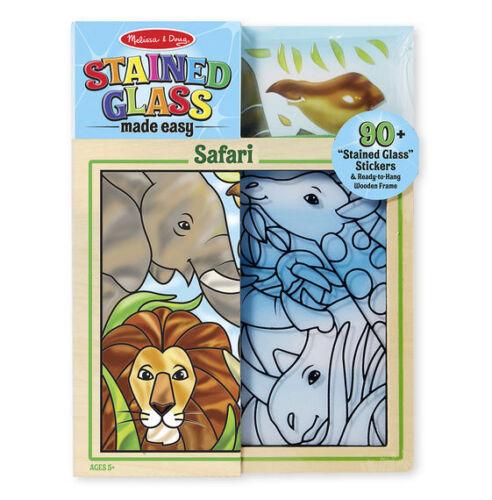 nuevo!!! !! Melissa y Doug 19436-vidrieras hace fácil-Safari