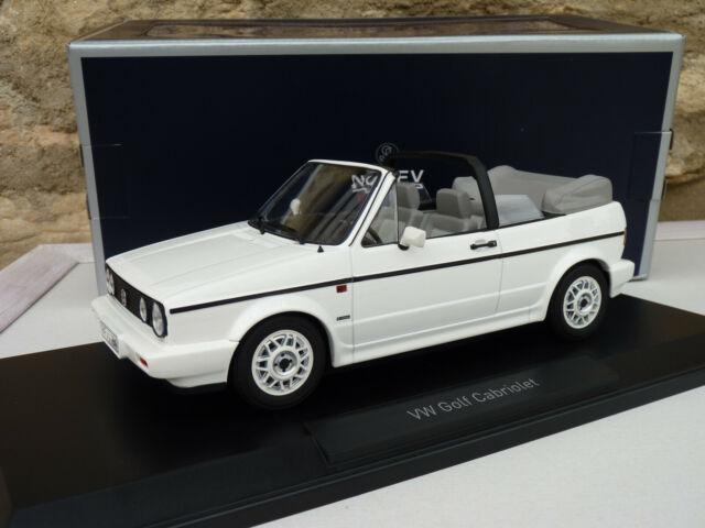 Vw volkswagen golf 1 cabriolet karmann 1992 white to 1/18 norev 188435