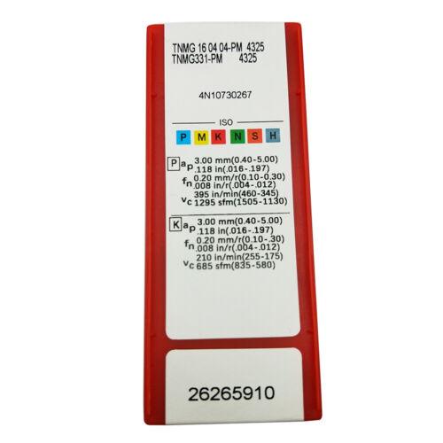 10pcs TNMG 1604 04 PM Grade 4325 TNMG331-PM CNC Carbide inserts lathe tool
